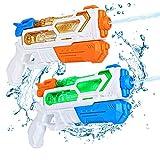 ARANEE Pistola ad Acqua per Bambini, 2 Pack Squirt Guns Capacità 350ml, Regali per Ragazzi Ragazze Bambini Estate Piscina Spiaggia Sabbia Acqua all'aperto Combattimento Giocattoli da Gioco