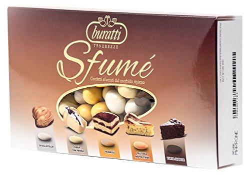 Buratti Confetti con Mandorle Tostate Ricoperte di Cioccolato, Bianco ai Molteplici Gusti, Tenerezze Sfumè Marrone - 1000 g