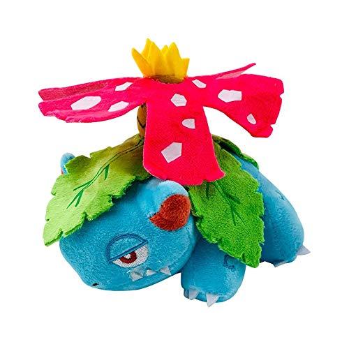 siqiwl Peluche 16cm Anime Bulbasaur Venusaur De Peluche De Juguete Mega Venusaur Muñeco De Peluche Suave Regalos para Niños