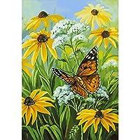 数字によるDIY絵画家の装飾を描くための花蝶のキャンバス数字による画像の着色クリスマス(フレームレス)40x50cm