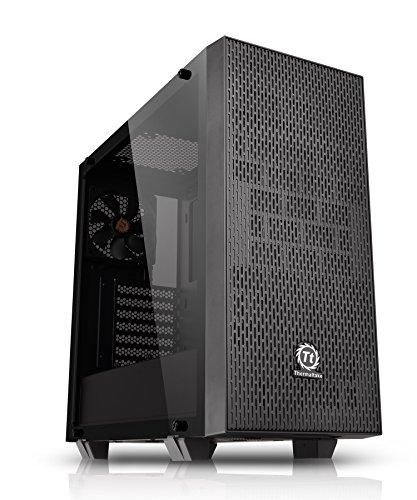 Thermaltake Core G21 Tempered Glass Edition Midi-Tower Black computer case - computer cases (Midi-Tower, PC, SPCC, Tempered glass, ATX,Micro-ATX,Mini-ITX, Black, 4 mm)