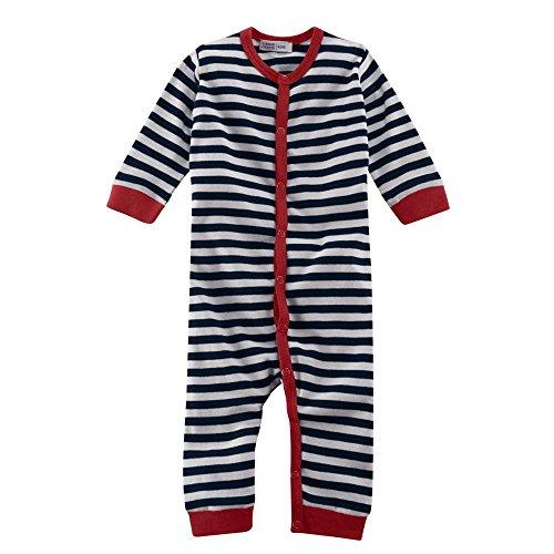 Living Crafts 62/68 Pyjama sans Pieds Bleu Marine/Blanc