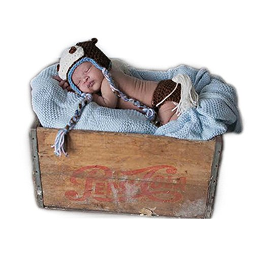 Fashion Newborn Baby Photography Props Boy Girls Photo Shoot Outfits Horse Hat Pants