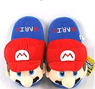 NEW! (MARIO) Bros (Kids) Plush Slippers Red (One Size Fits All)