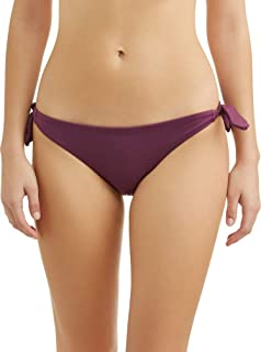Juniors' Berry Stone Bunny Rib Side Tie Swimsuit Bottom