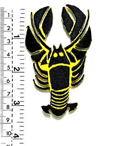 Parche de camarón de langosta negro en amarillo con diseño de ...
