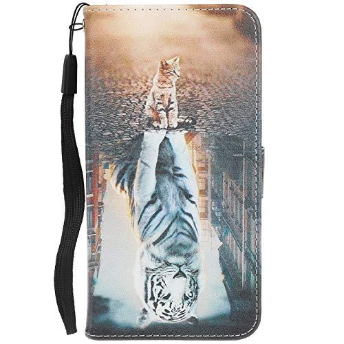 ocketcase Kompatibel Mit BQ Aquaris U Plus Hülle, PU Leder Tasche Schutzhülle Hülle Cover Wallet im Bookstyle mit Magnetverschluss Handy-Kasten Handyhülle Standfunktion - Farbe 25