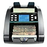 Kolibri Domino US Professional Money Counter Machine Mixed Denomination, Value Cash Counter with Fake Money Counterfeit Bill Detector, Multi Currency, Counting Receipt Printing Enabled, Small Business