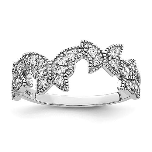 Hermoso anillo de plata esterlina de la CZ de la mariposa