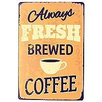 新鮮なコーヒー メタルポスター壁画ショップ看板ショップ看板表示板金属板ブリキ看板情報防水装飾レストラン日本食料品店カフェ旅行用品誕生日新年クリスマスパーティーギフト
