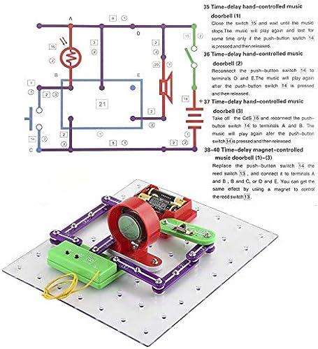 Yaoaomon Découverte électronique intelligent Kit Kit Bricolage éducatif Jouets pour Enfants Enfants Multi-Couleur