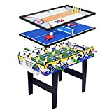 TORPSPORTS Multi Game Table,4 in 1 w/Foosball Tables,Table Tennis/Ping Pong Tables,Shuffleboard Tables,Bowling...