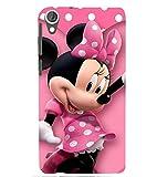 Printvisa Back Cover Polka Dot Pink Mickey Mouse Design for HTC Desire 820::HTC Desire 820Q::HTC Desire 820S