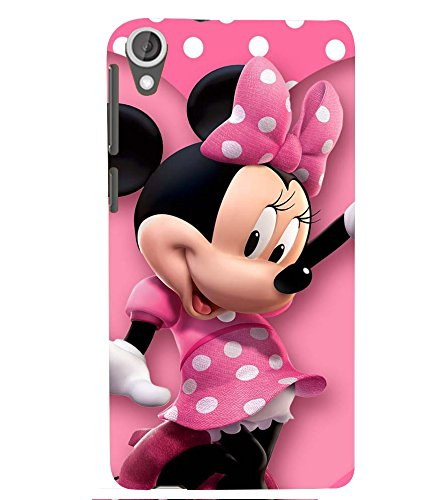 Printvisa Premium Back Cover Polka Dot Pink Mickey Mouse Design for HTC Desire 820::HTC Desire 820Q::HTC Desire 820S