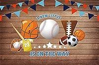 新しい野球のベビーシャワーの背景7x5ftボールスポーツの素朴なテーマオールスター写真の背景幼児の赤ちゃん新生児の肖像画ベビーシャワーパーティー画像booth小道具デジタル壁紙