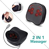 Naipo Foot Massager Shiatsu Back massage Machine with Switchable Heat Function Vibration Deep