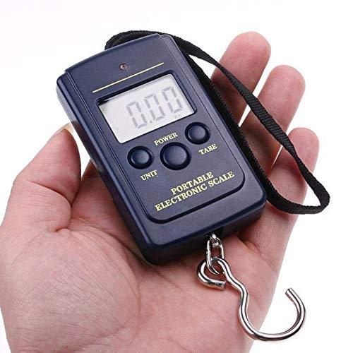 HJTLK Báscula Digital de Bolsillo, Mini báscula Digital portátil Equipaje de Pesca Básculas de Viaje Báscula electrónica para Colgar en la Maleta
