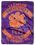 Northwest Clemson Tigers 60'x80' Royal Plush Raschel Throw Blanket - Rebel Design
