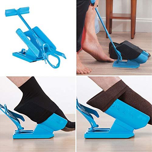 BAODANH Easy On/Easy Off – Calcetín para personas con discapacidad, embarazadas, mujeres mayores, color azul