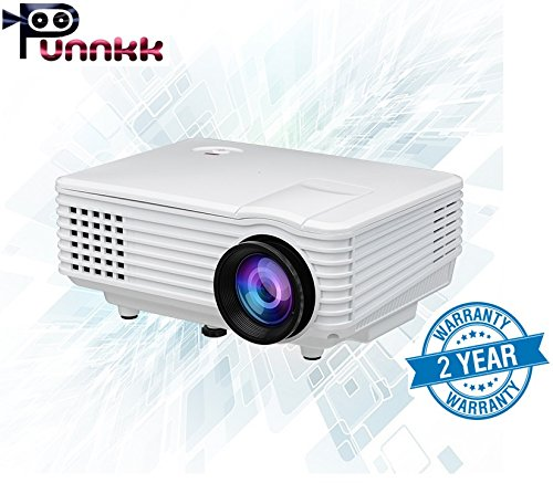 Punnkk Full HD LED LCD Home Theater Projector (P5 800Lumens)