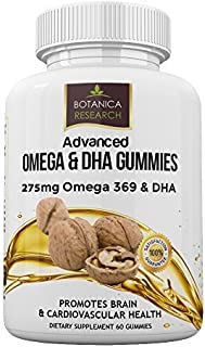 Omega 3 6 9 Chewable Gummy Supplement with DHA Vitamin C - Fatty Acids Vitamin for Cardio Vascular, Cognitive & Boost Immu...