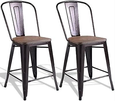 Amazon.com: Aeon Muebles garvin-2 silla apilable – Set de 2 ...