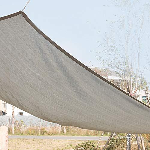 YGRQ Sonnenschutznetz Sonnensegel Sonnenschutz Garten Balkon Wetterschutz Wasserabweisend Rechteckig UV-Schutz Für Garten Outdoor Gewächshaus Scheune Zwinger Pool Pergola Oder Schwimmbad,grau