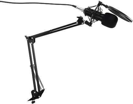 XIANGA Microfono * Set Completo Professionale di pastiMicrofono a condensatore Alimentazione Phantom Scheda Audio USB Studio di Registrazione Microfono KTV/PC - Trova i prezzi più bassi