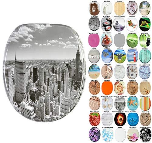 WC Sitz, viele schöne WC Sitze zur Auswahl, hochwertige und stabile Qualität aus Holz (Skyline New York)