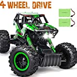 DOUBLE E RC Car 1:12 Remote Control Car Monster Trucks with Head Lights 4WD Off All Terrain RC Car Rechargeable Vehicles
