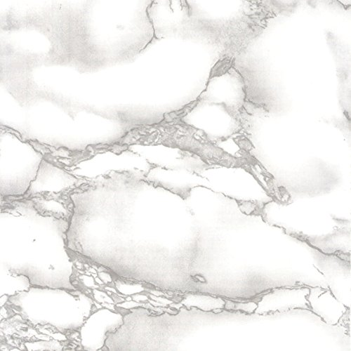 Venilia Noble Look Pellicola Adesiva, PVC, Grigio (Marble Gray), 45 cm x 2 m