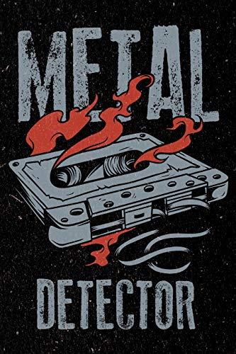 Metal Detector: College Ruled Notebook for Heavy Death Metal Rock and Roll Music Band Fans
