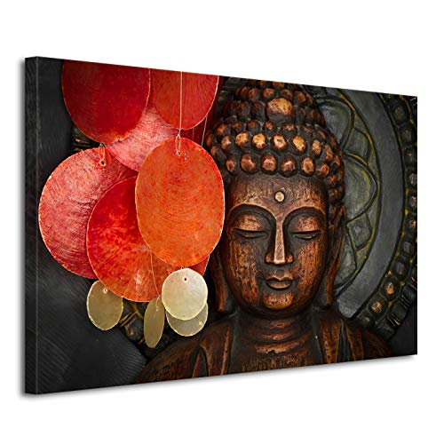 Living Room Canvas Printing Modern Buddha Head Portrait Painting Religious Wall Art Canvas Painting Home Decor Mural Can Be Hung (24x36in,No Framed)