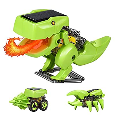 CPSYUB Solar Robot Kit 3-in-1 STEM Projects Robot Kit, Fine Motor Skills Toys Gifts for 6 7 8 9 10 Year Old Boys, Education Science Experiment Kit for Kids Aged 8-12 and Older
