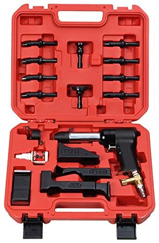 HRH-3X-777 Deluxe AIR Hammer KIT for Rivets. Includes: 4 Bucking Bars, 4 Cupped Universal Head BITS (3/32