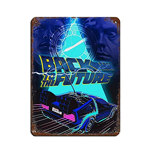 Cartel clásico de película retro de Back to the Future 23 retro de metal de lata de arte chic retro pintura de hierro bar gente cueva cafetería familia garaje cartel decoración de pared 30 x 40 cm