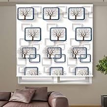 3D Roller Curtain Flowers 150 * 200 cm 9917