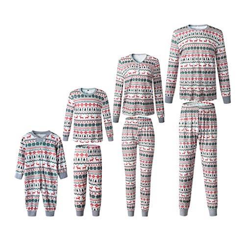 SCU-SS Esemble Pyjamas Famille Noël Manche Longue Pantalons Hauts Vêtements Nuit Tenues pour Maman Papa Bébé (Color : Kid(6T))