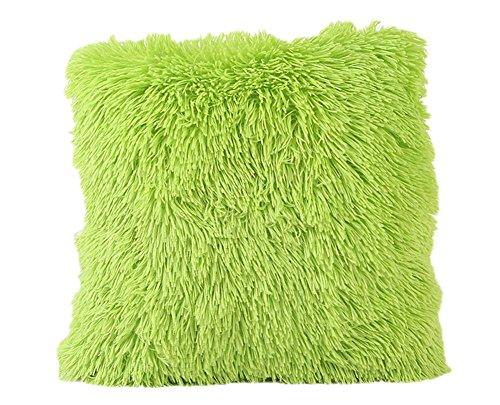 Chytaii. Housse de Coussin Taie d'oreiller Carré en Peluche Décoration Canapé Sofa de Salon Voiture 43 * 43cm Couleur Unie
