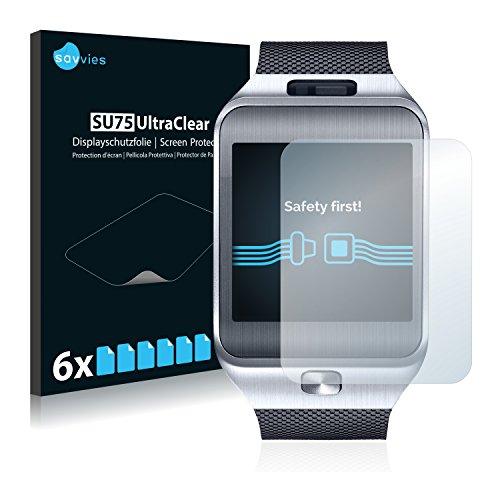 savvies 6-Pezzi Pellicola Protettiva Compatibile con Samsung Galaxy Gear 2 SM-R380 Protezione Schermo Trasparente