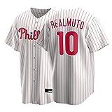 XJQ Realmuto - Camiseta de béisbol para hombre, diseño de Phillies Fan Edition, tejido grueso de la humedad, ligero y transpirable, talla S-XXXL, 1-L