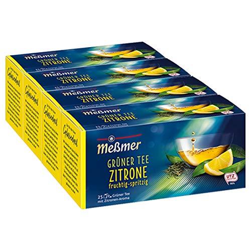 Meßmer Grüner Tee Zitrone 25 TB, 4er Pack (4 x 43.75 g)