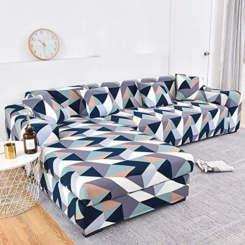 YANJHJY 1pieza Fundas de sofá de Esquina, para Sala de Estar Fundas elásticas para sofá Funda de sofá elástica Toalla de sofá en Forma de L Chaise Longue, Color 8,4, Asiento 235,300cm 1PC