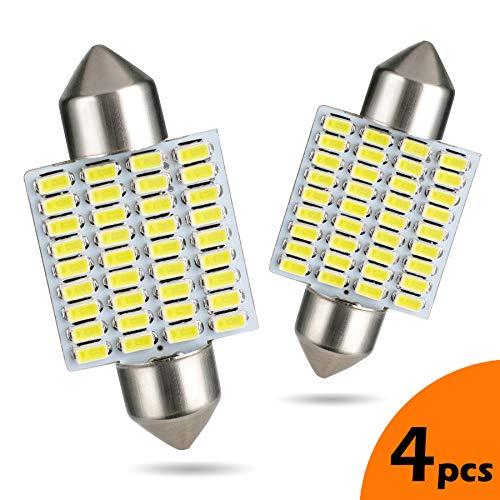 LUMENEX 36mm LED Bombillas Festoon CANBUS Libre de Errores 36SMD 3014 Chipsets C5W 6418 6411 DE3423 Para Luces Interiores de Coche Cúpula Mapa Tronco Luces Blancas 6000K 4 piezas