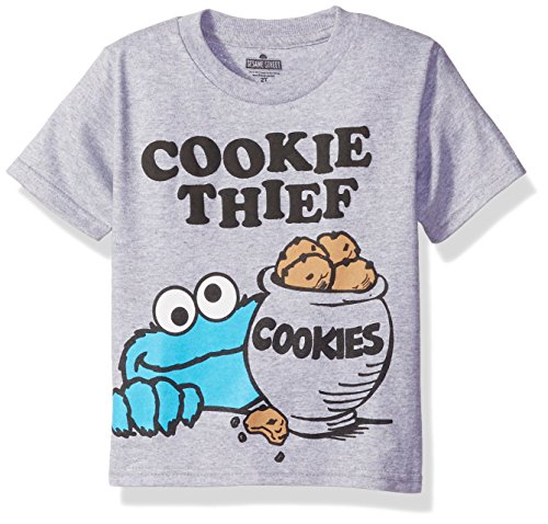 Sesame St Toddler Boys' Short Sleeve T-Shirt Shirt, Gray, 2T