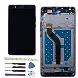 Draxlgon Reemplazo de Pantalla para Huawei P9 Lite VNS- L22 L23 L21 L31 L53/G9 VNS-DL00 Pantalla LCD Asamblea de digitalizador de Pantalla táctil (Negro con Marco)