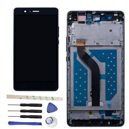 Draxlgon General Completa Reparación y reemplazo LCD Display Pantalla táctil digitalizador Asamblea para Huawei P9 Lite VNS- L22 L23 L21 L31 L53/G9 VNS-DL00 (Black w/Frame)