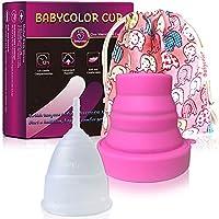 Copa Menstrual-copa menstrual más recomendada-Incluye una bolsa de regalo-Pastillas Esterilizadoras, 4 unidades-Pastillas para esterilizar y desinfectar la Copa Menstrual (S)