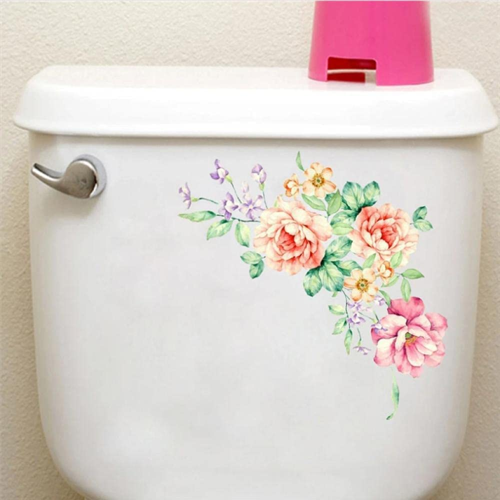 Funing Colorful Flower Floral Vine Bathroom Refr excellence Stickers Rare Toilet