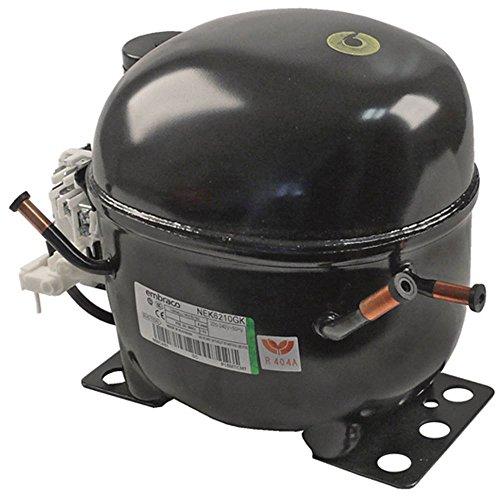 Compressor NEK6210GK voor ijsmachine Brema CB425, CB640, GB1555, GB1540, Lincat SCR785, SCR1085 volhermetisch 50 Hz 8,5 kg 3/8 HP